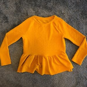 Mustard yellow peplum